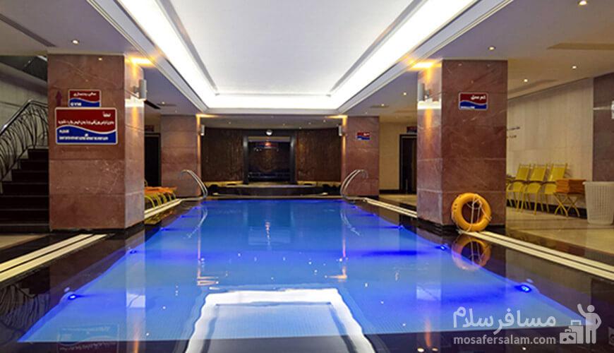 استخر هتل استقلال تهران, رزرواسیون مسافر سلام
