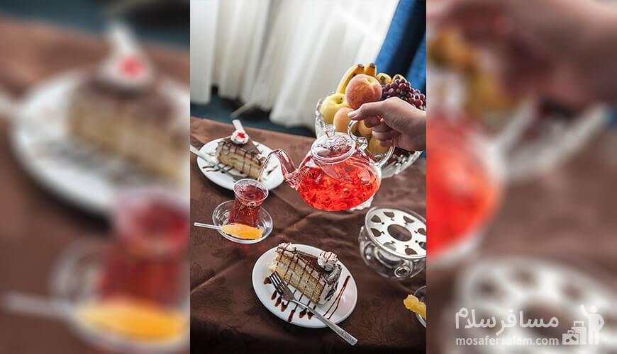 عصرانه در هتل رضویه مشهد, رزرواسیون مسافر سلام