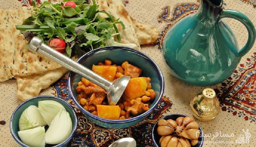 آبگوشت دیزی سنگی تبریز, غذای محلی تبریز