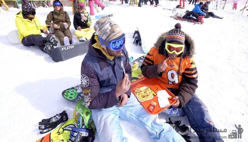 تفریح در پیست اسکی دیزین