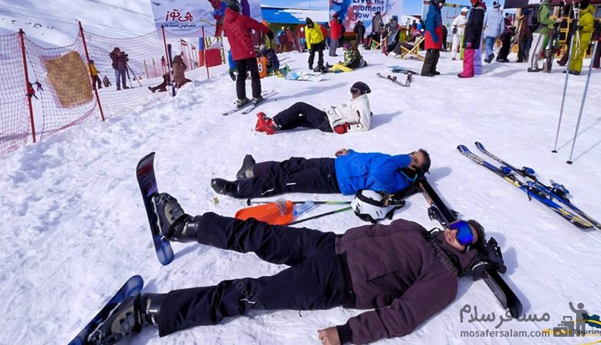 لذت اسکی در پیست اسکی دیزین