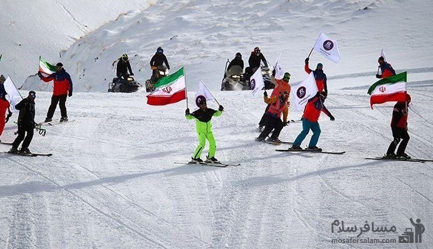 دیزین بزرگترین پیست اسکی خاورمیانه, مسافر سلام