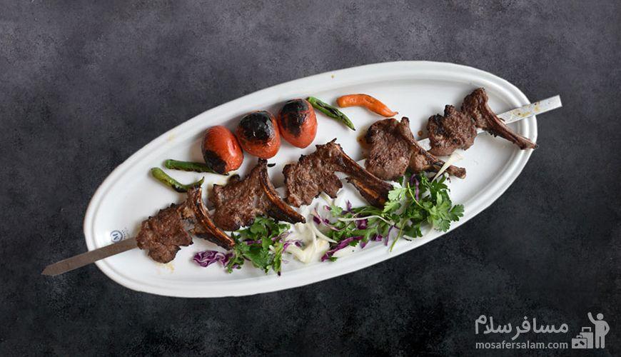 شیشلیک رستوران معین درباری مشهد