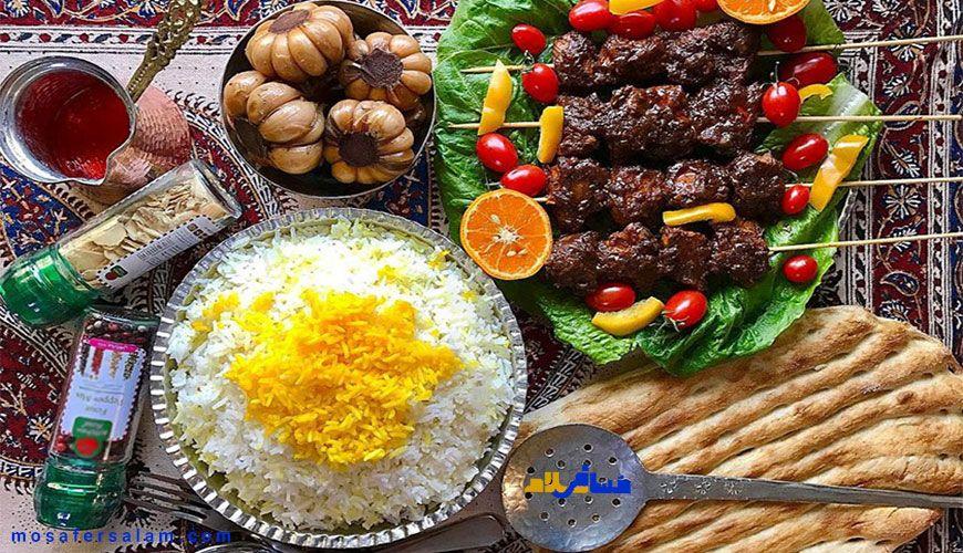 سفره خانه های سنتی, غذای ایرانی