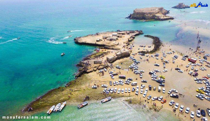 نمایی زیبا از سواحل جزایر ناز
