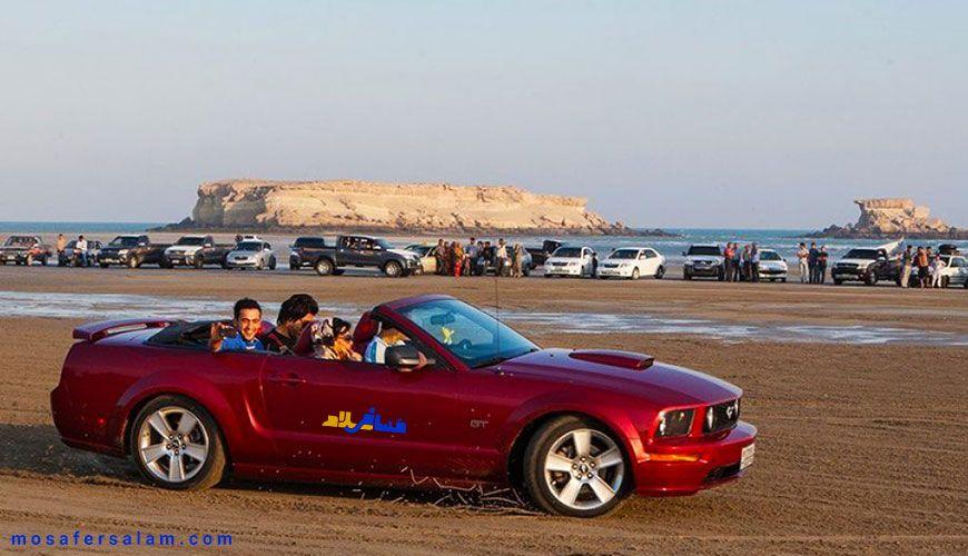 ماشین های گران قیمت در سواحل جزایر ناز