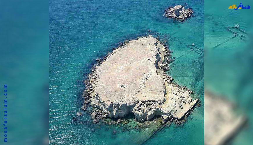 تصویر هوایی از جزایر ناز قشم