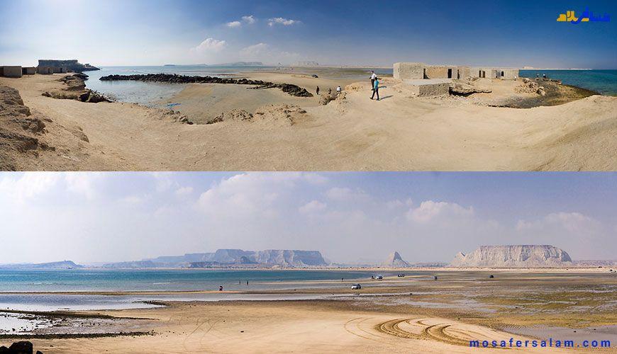 تصویری زیبا از سواحل جزایر ناز