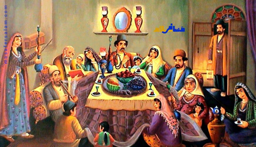 آیین شب یلدا و باور مردم باستان