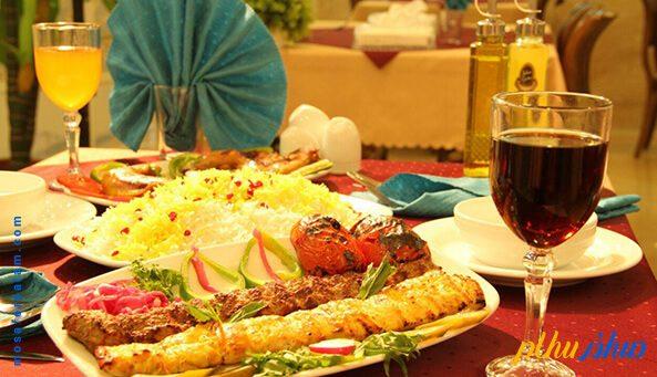 غذای هتل عقیق مشهد
